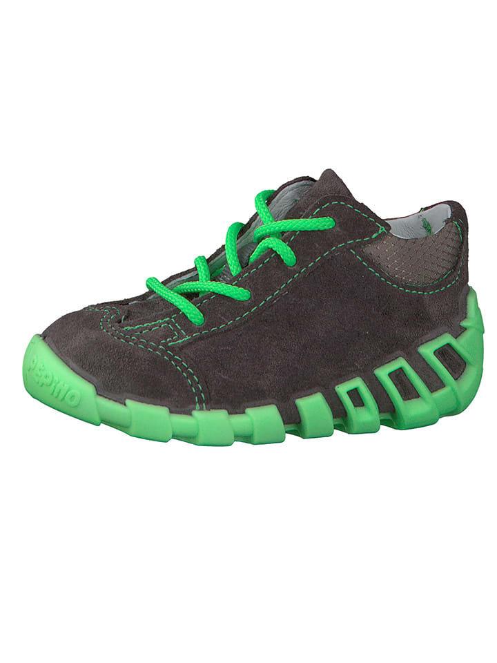 "PEPINO Leren sneakers ""Dini"" donkergrijs"