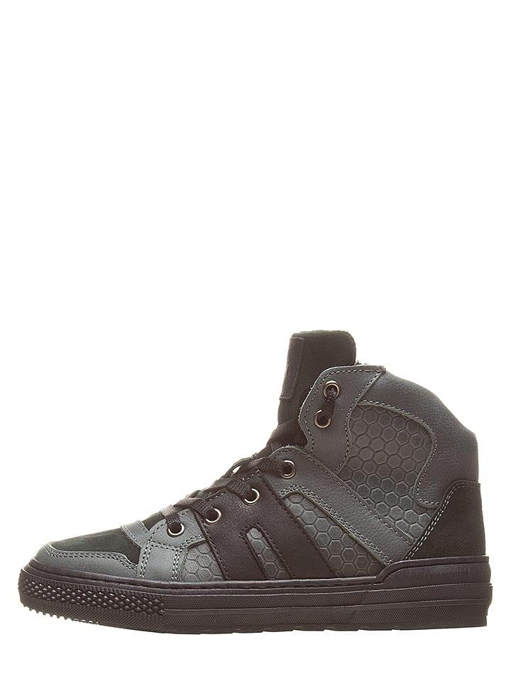EXK Skórzane sneakersy w kolorze antracytowym