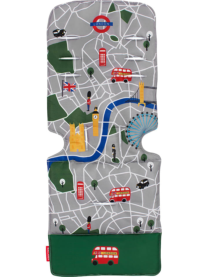 "MACLAREN Universal-Sitzeinlage ""London City Map"" in Grau/ Grün"