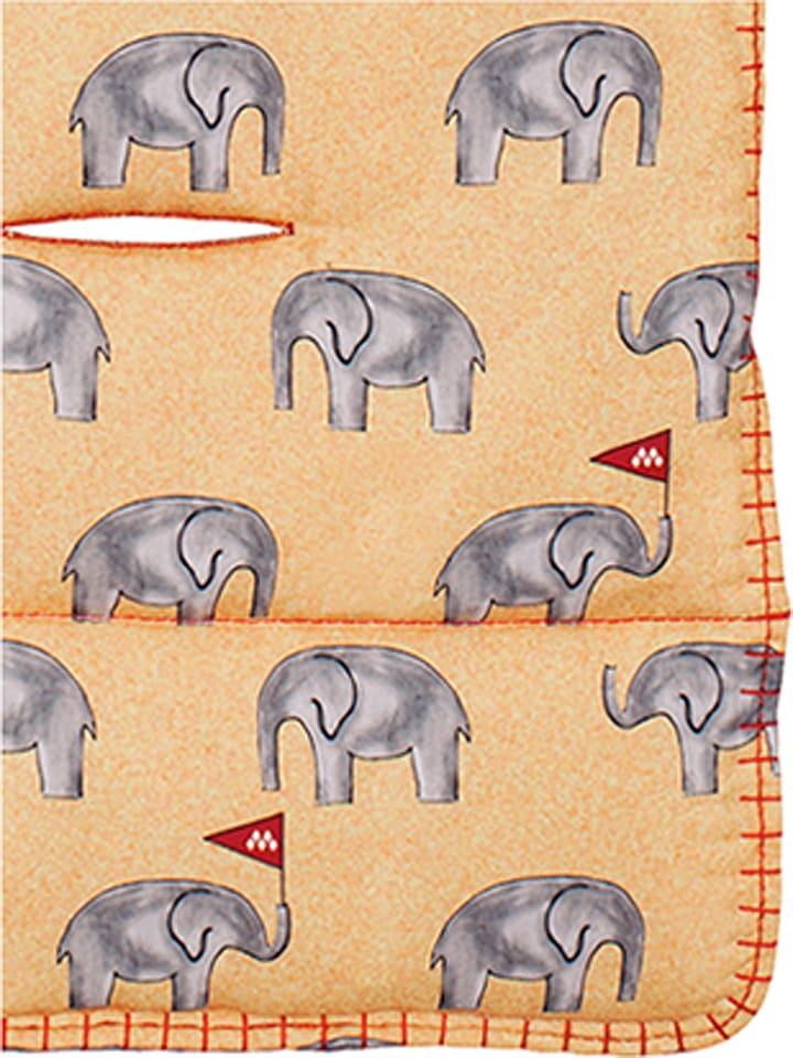 "MACLAREN Assise universelle ""Elephants"" - orange/gris"