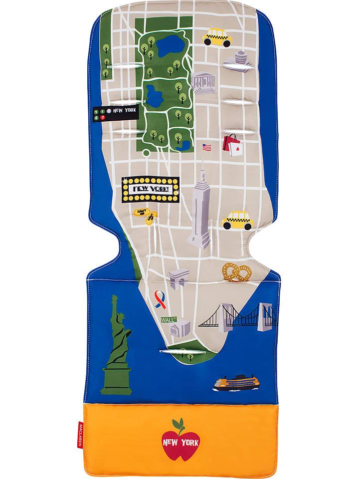 """MACLAREN Uniwersalna wyściółka """"New York City Map"""" w kolorze niebieskim ze wzorem"""