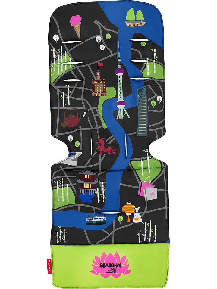 """MACLAREN Universal-Sitzeinlage """"Shanghai City Map"""" in Blau/ Grün"""