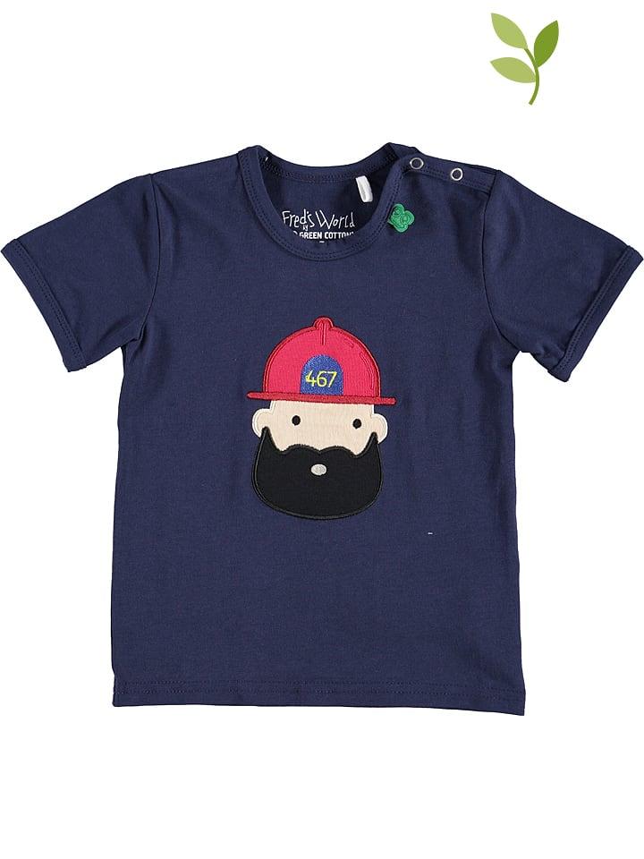 Green Cotton Shirt donkerblauw