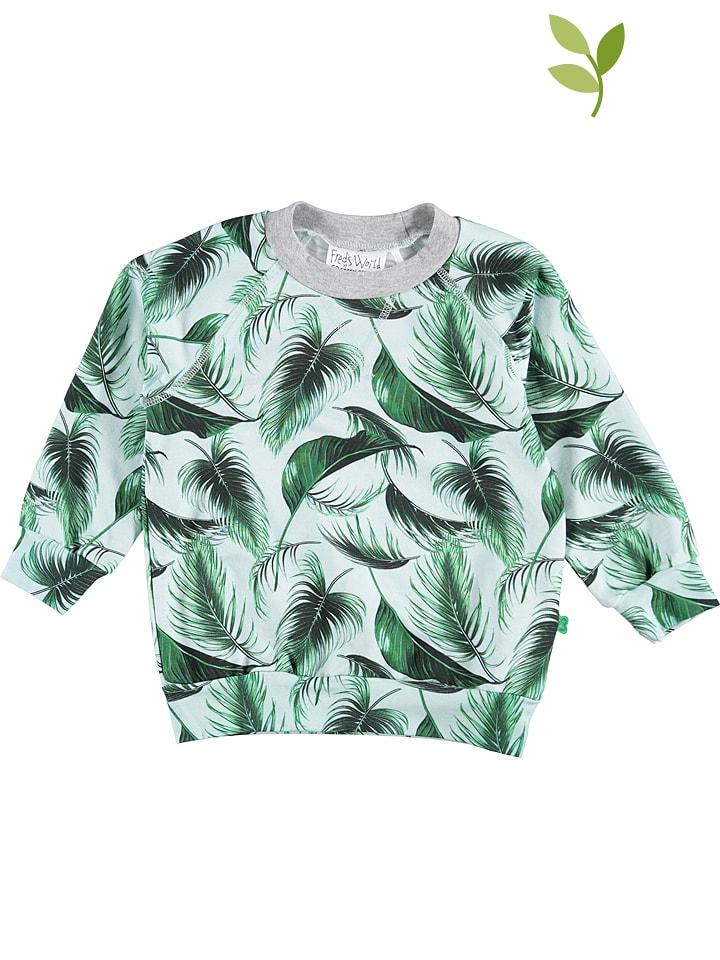 Green Cotton Bluza w kolorze zielonym