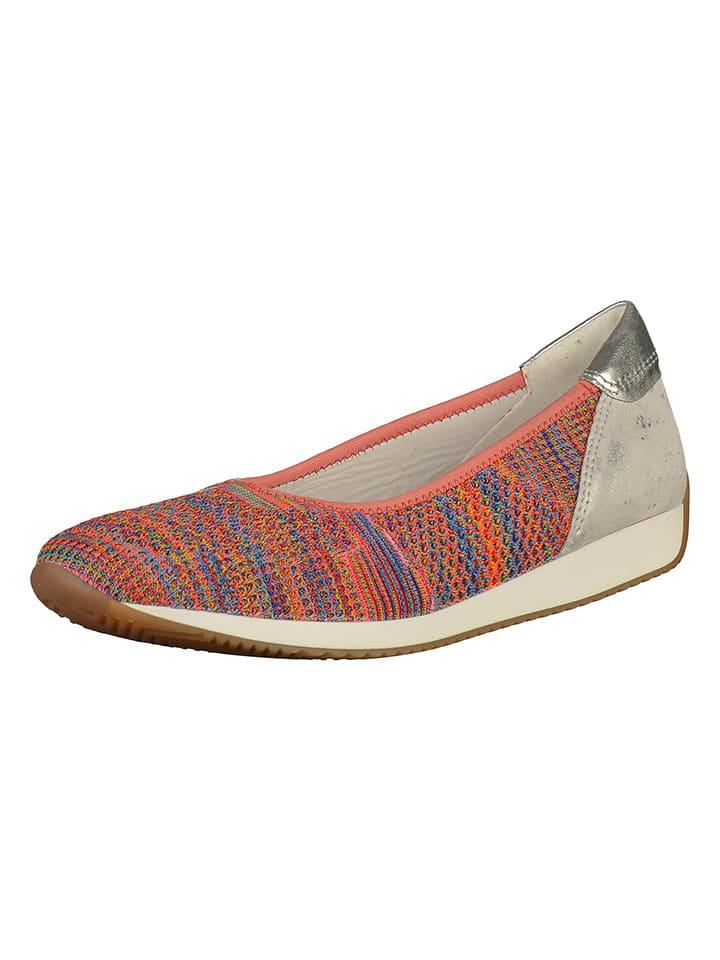 Ara Shoes Leder-Ballerinas in Bunt/ Silber