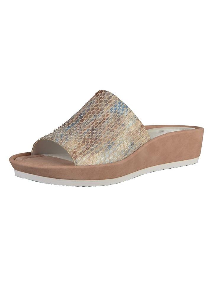 """Ara Shoes Leder-Pantoletten """"Tivoli"""" in Beige"""