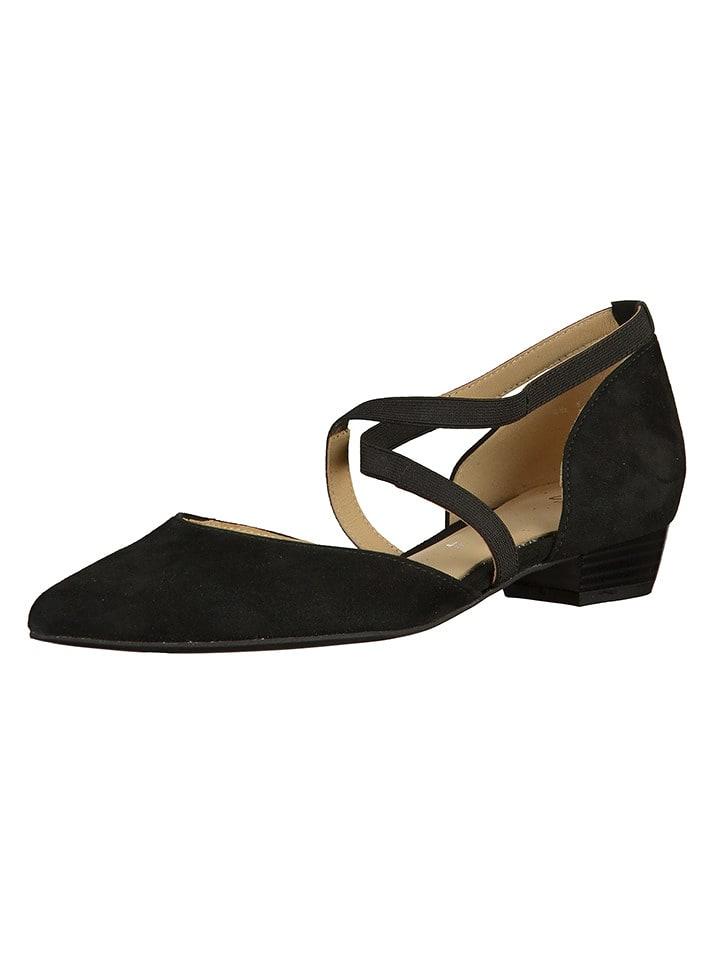 Ara Shoes Leder-Ballerinas in Schwarz