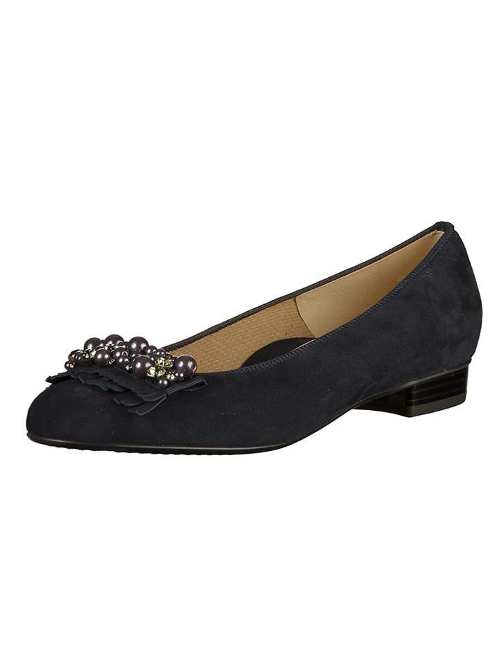 Ara Shoes Leder-Ballerinas in Dunkelblau