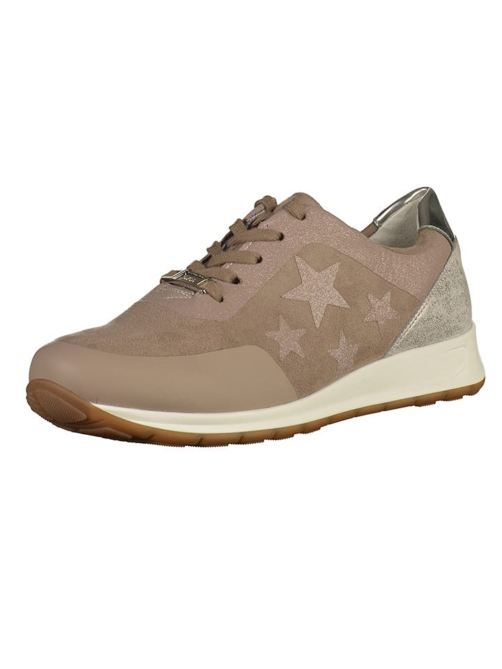 Ara Shoes Sneakers in Taupe/ Silber