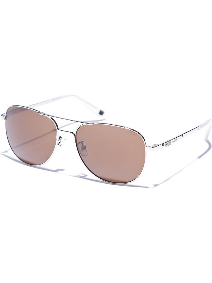 Bally Męslkie okulary przeciwsłoneczne w kolorze srebrno-brązowym