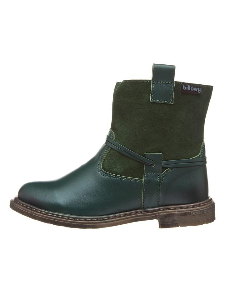 Billowy Leren boots donkergroen