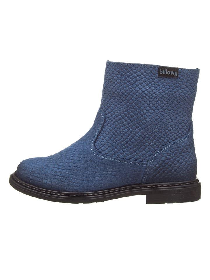 Billowy Leren boots blauw