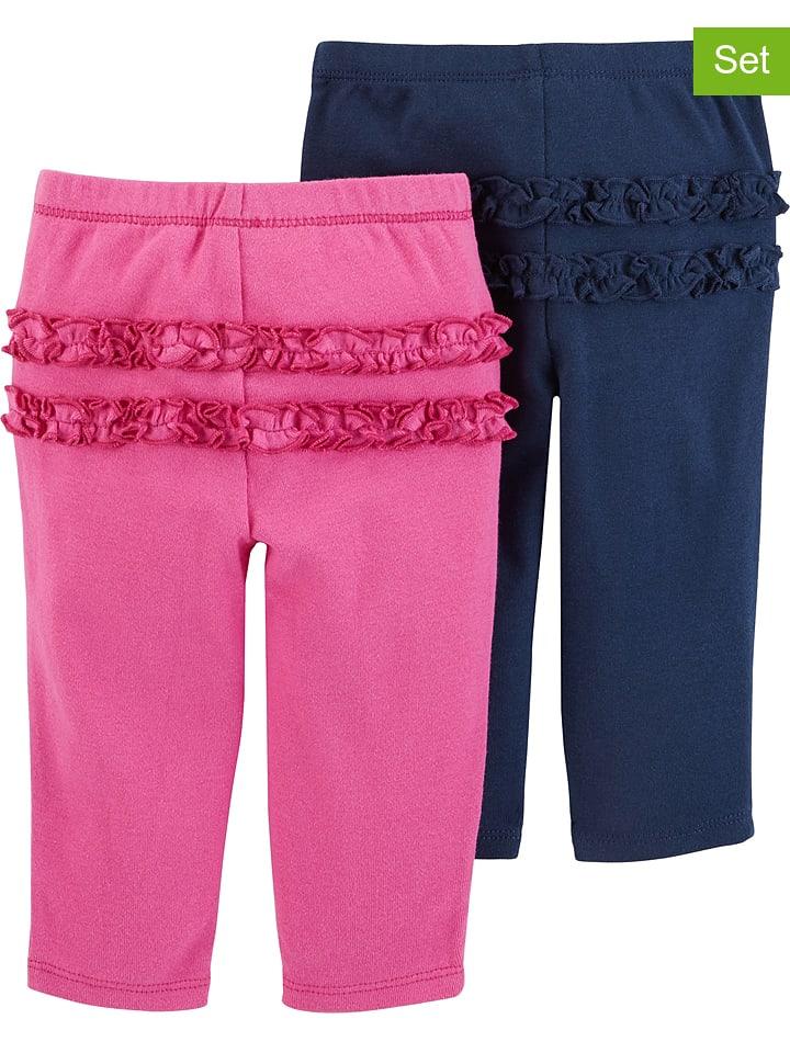 Carter's 2-delige set: broeken roze/donkerblauw