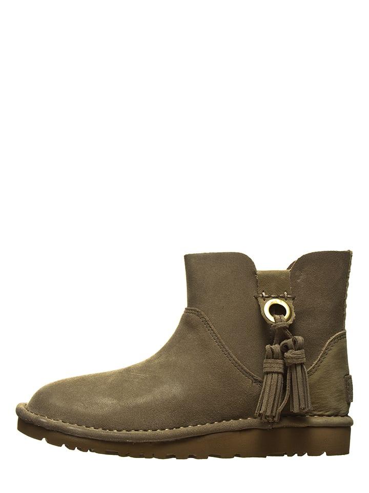 "UGG Leder-Boots ""Gib"" in Taupe"