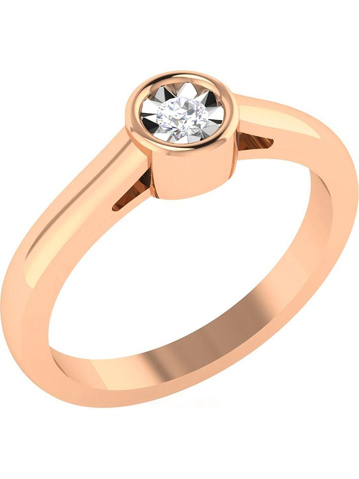 Art of Diamond Roségold-Ring mit Diamanten