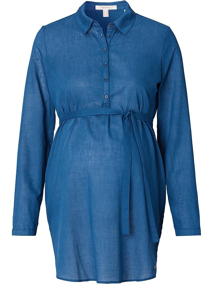 ESPRIT Bluzka ciążowa w kolorze niebieskim