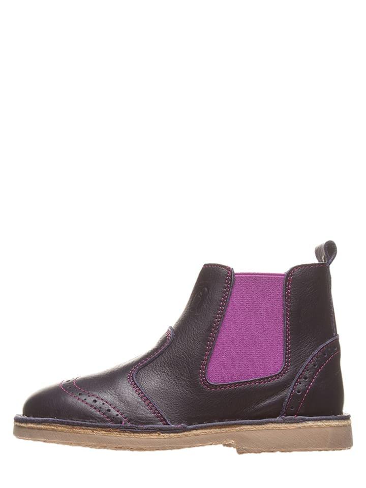Lamino Leder-Chelsea-Boots in Dunkelblau