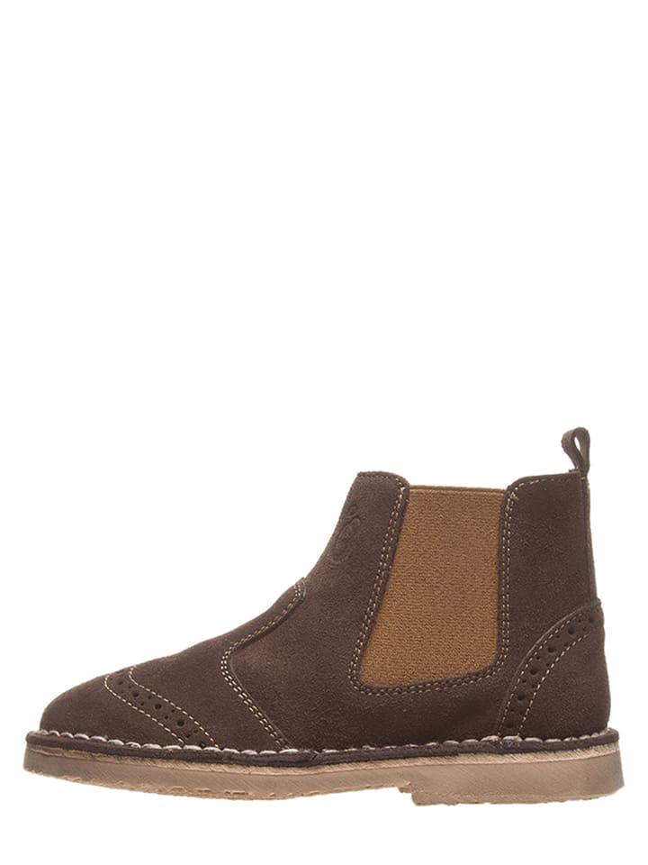 Lamino Leder-Chelsea-Boots in Braun