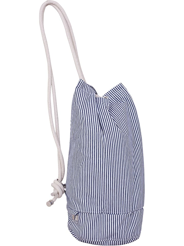 """FORVERT Torebka """"Lutz"""" w kolorze niebiesko-białym - wys. 57 cm"""