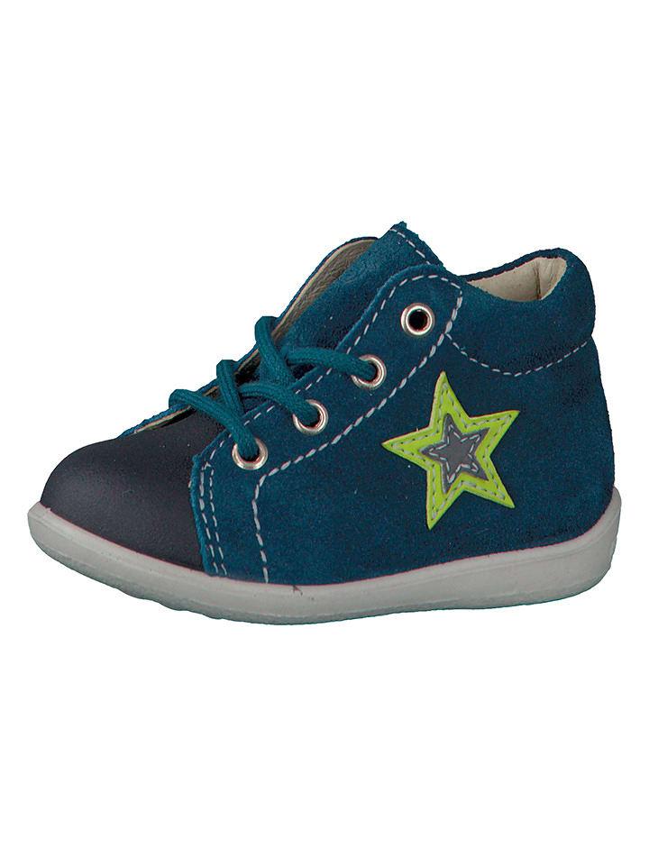 "PEPINO Leder-Sneakers ""Andi"" in Blau"