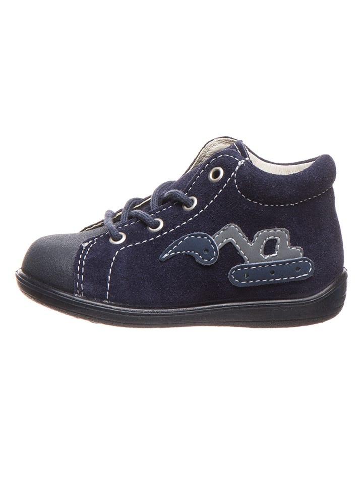 """PEPINO Leder-Sneakers """"Ande"""" in Dunkelblau"""