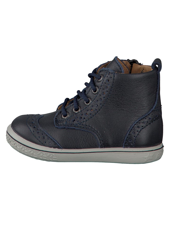 "PEPINO Leder-Sneakers ""Jenny"" in Dunkelblau"