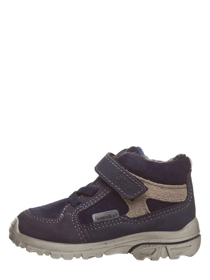 "PEPINO Leder-Sneakers ""Hike"" in Dunkelblau"