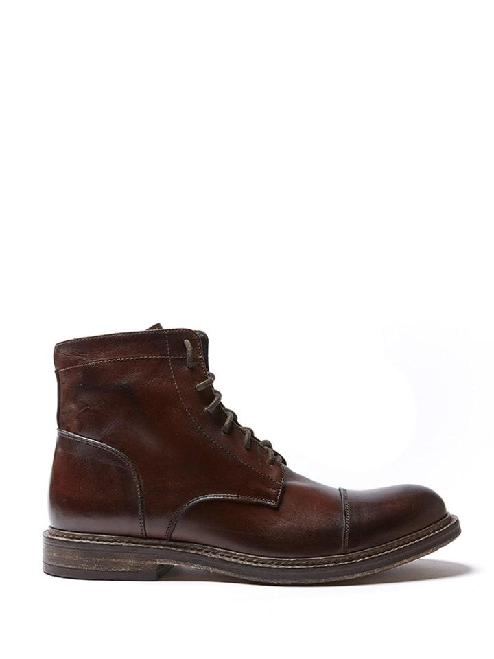 British Passport Leren boots bruin