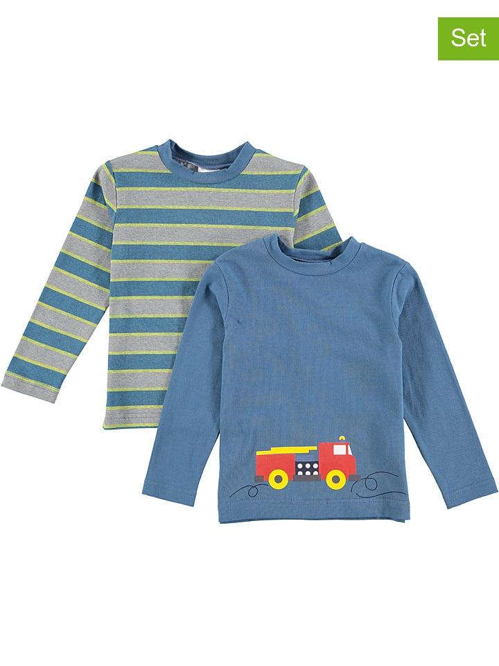 Lamino Koszulki (2 szt.) w kolorze niebiesko-szarym