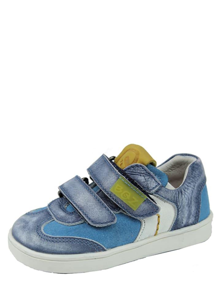Braqeez Leder-Sneakers in Blau