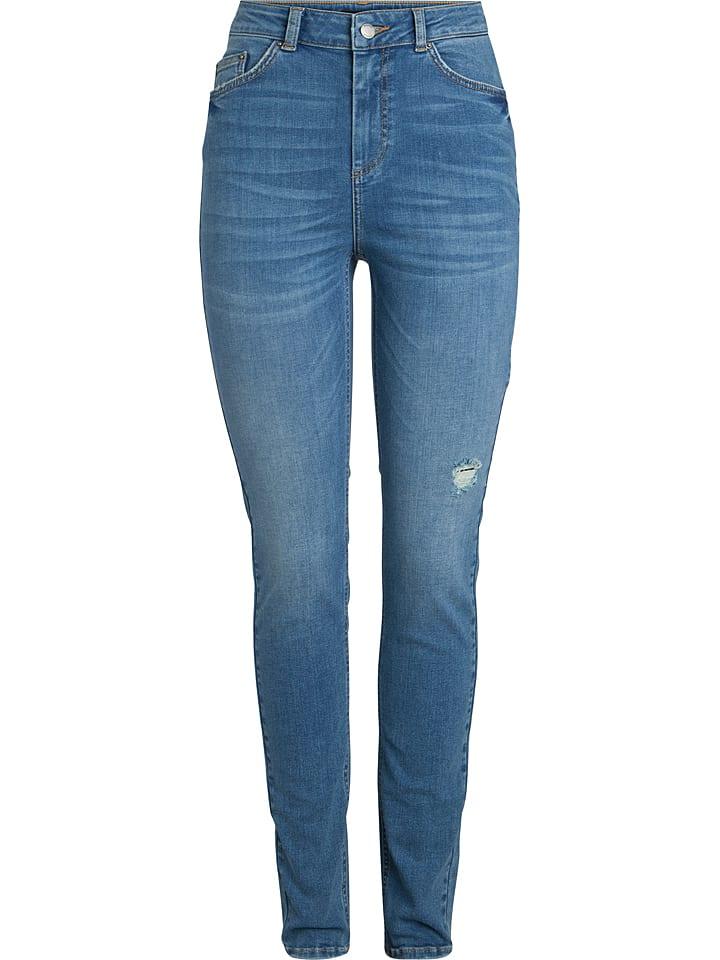 Pieces Dżinsy - Skinny fit - w kolorze błękitnym