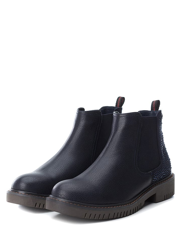 Xti Chelseaboots donkerblauw