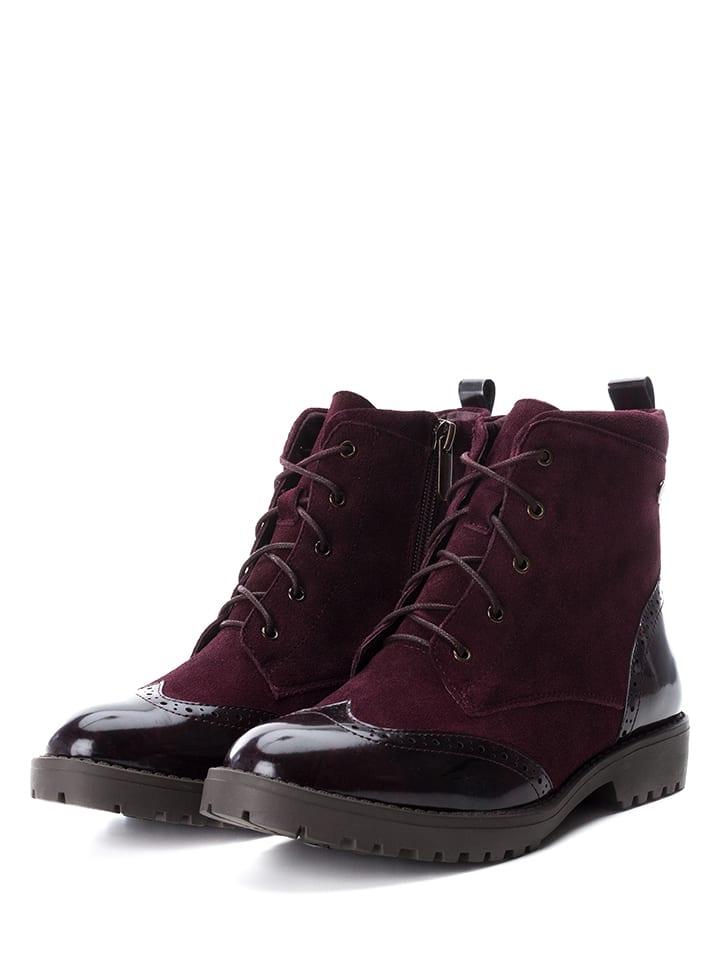 CARMELA Leder-Boots in Bordeaux