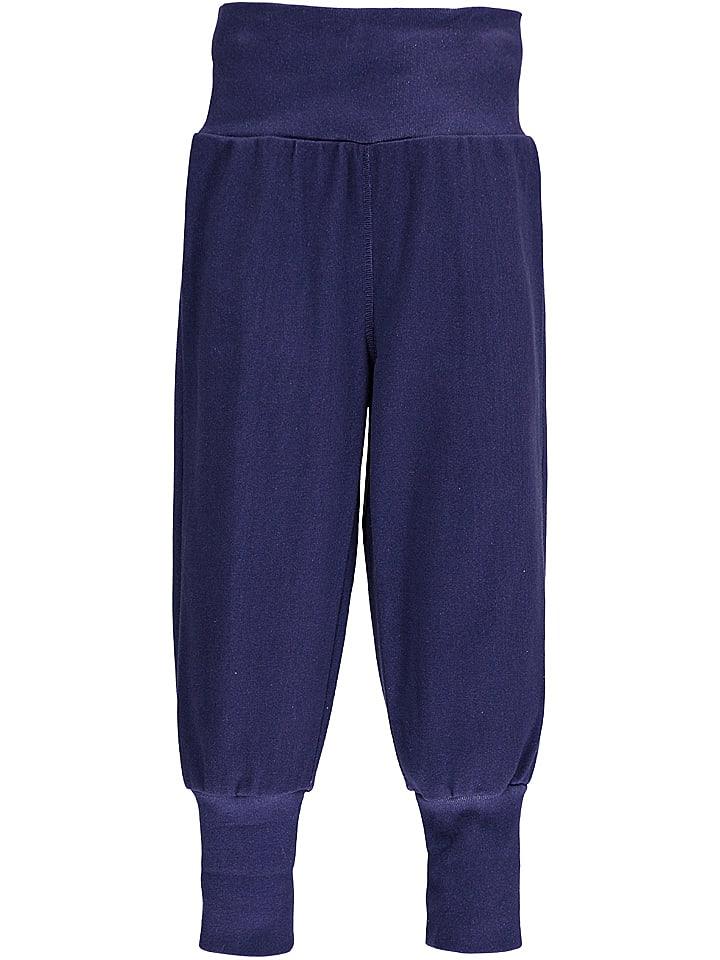 Lamino Spodnie w kolorze granatowym