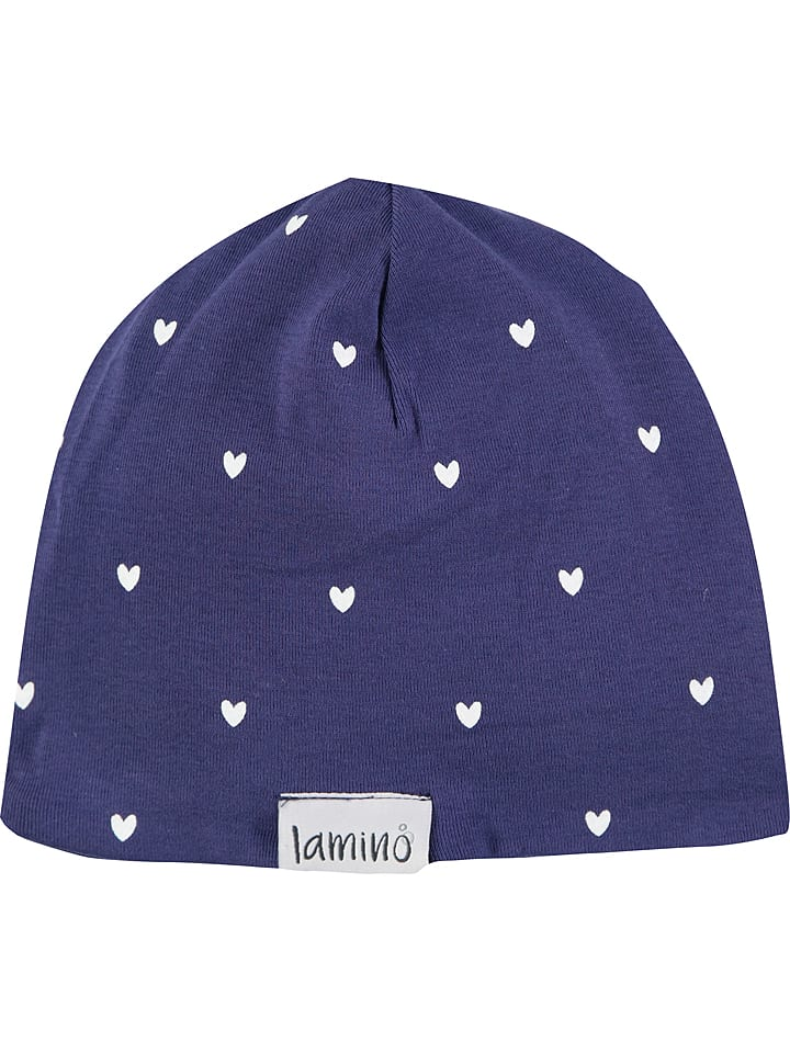 Lamino Dwustronna czapka w kolorze granatowo-białym