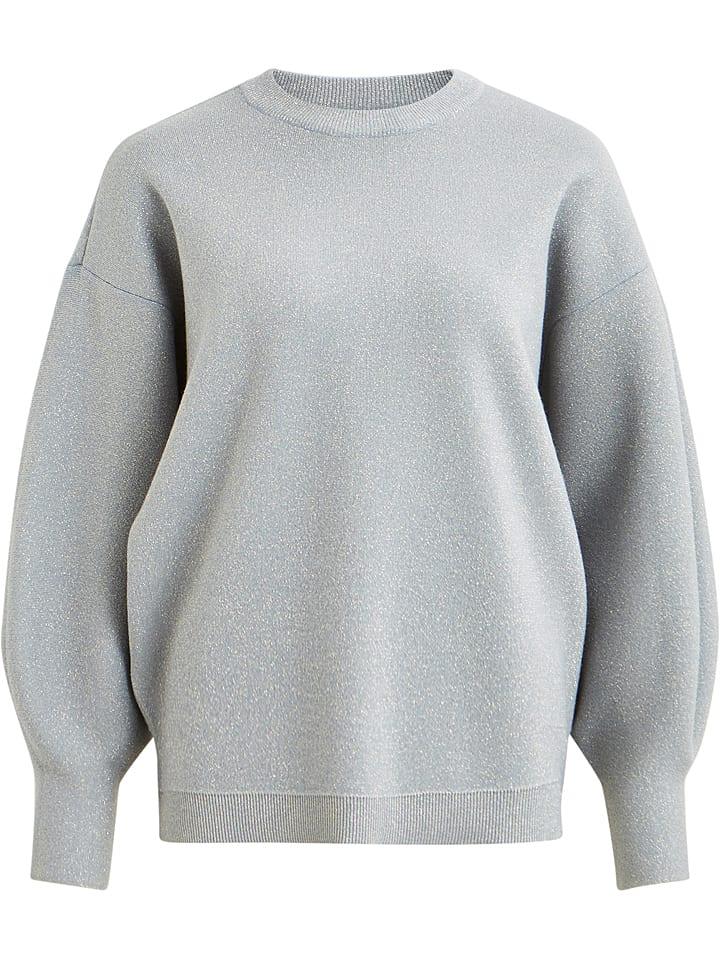 """Object Sweter """"Shine"""" w kolorze jasnoszarym"""