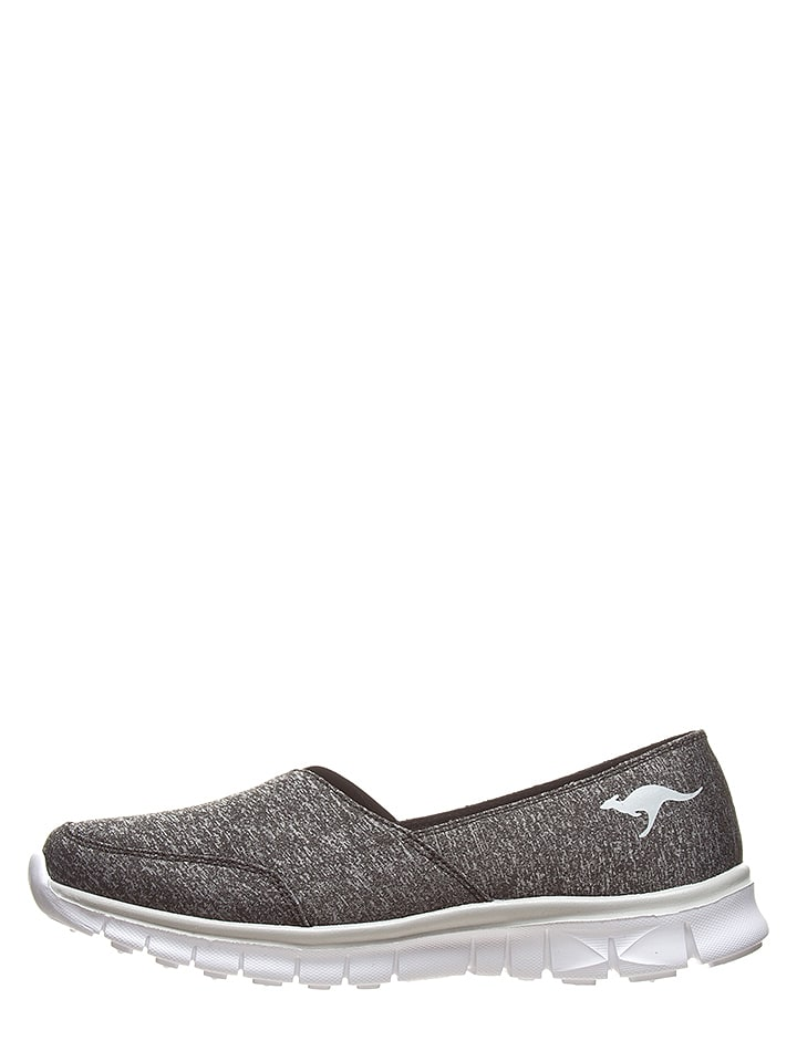 """Kangaroos Slippersy """"K-Run"""" w kolorze czarno-białym"""