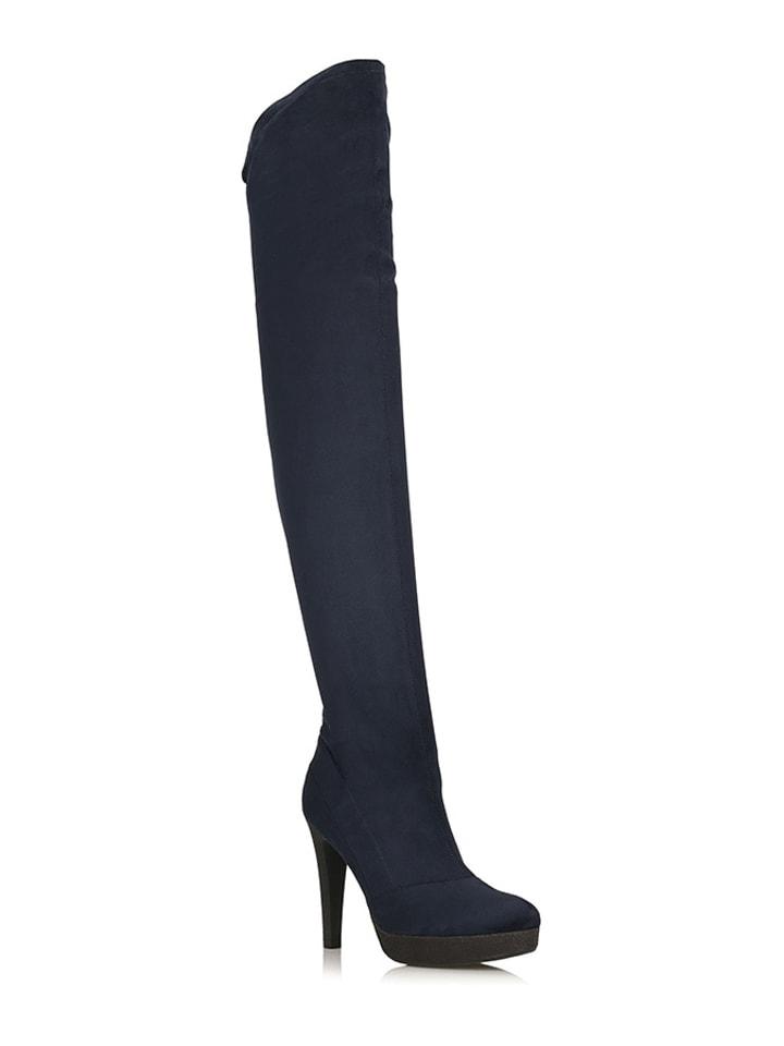 overknee laarzen donkerblauw