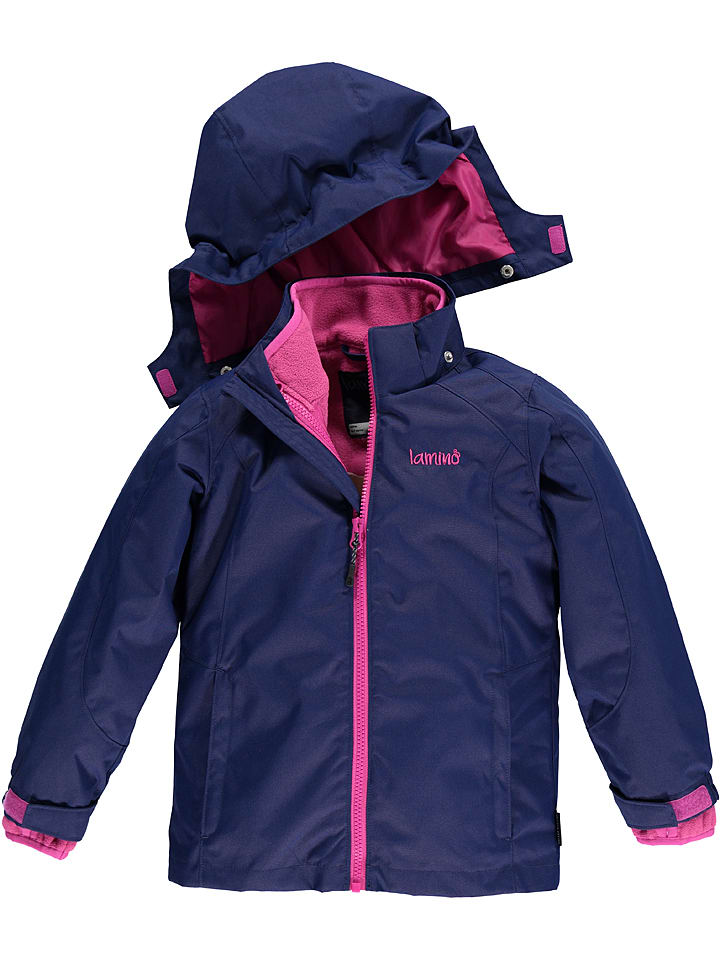 Lamino 3in1-Funktionsjacke in Dunkelblau/ Pink