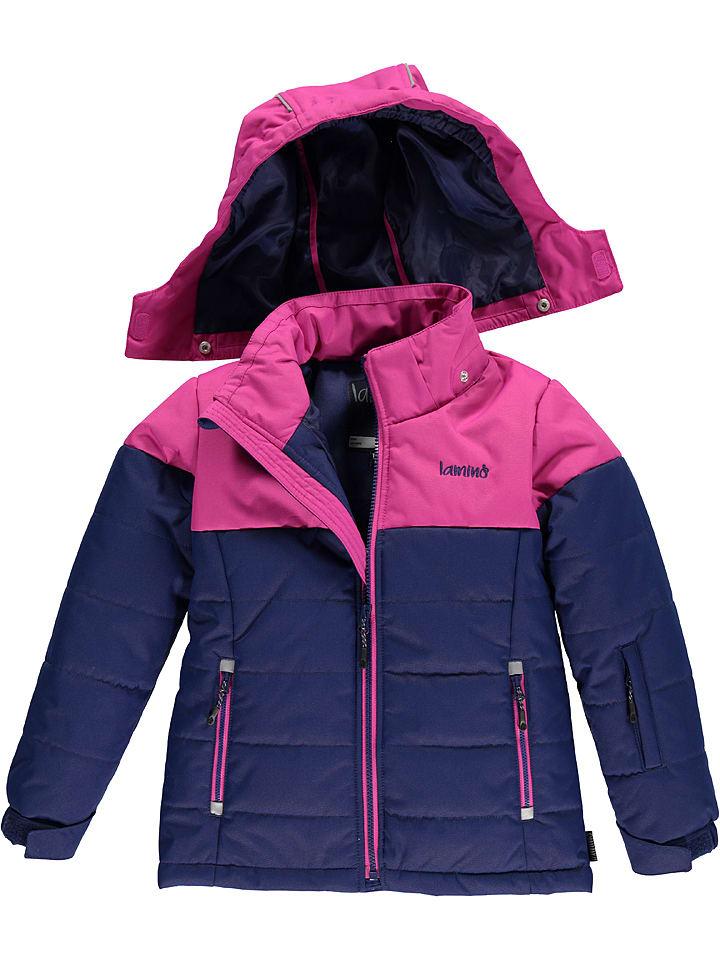 Lamino Ski-/snowboardjas donkerblauw/roze