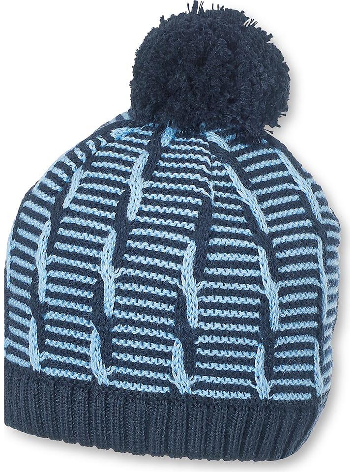 Sterntaler Dzianinowa czapka w kolorze granatowym