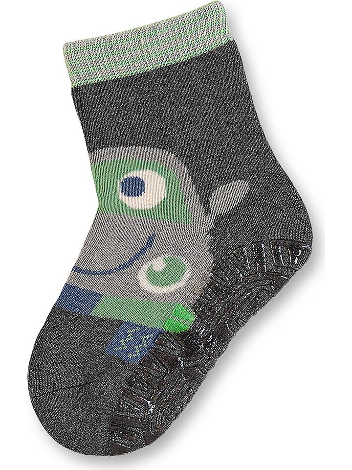 Sterntaler Abs Socken Fliesen Flitzer Soft In Grau Grun