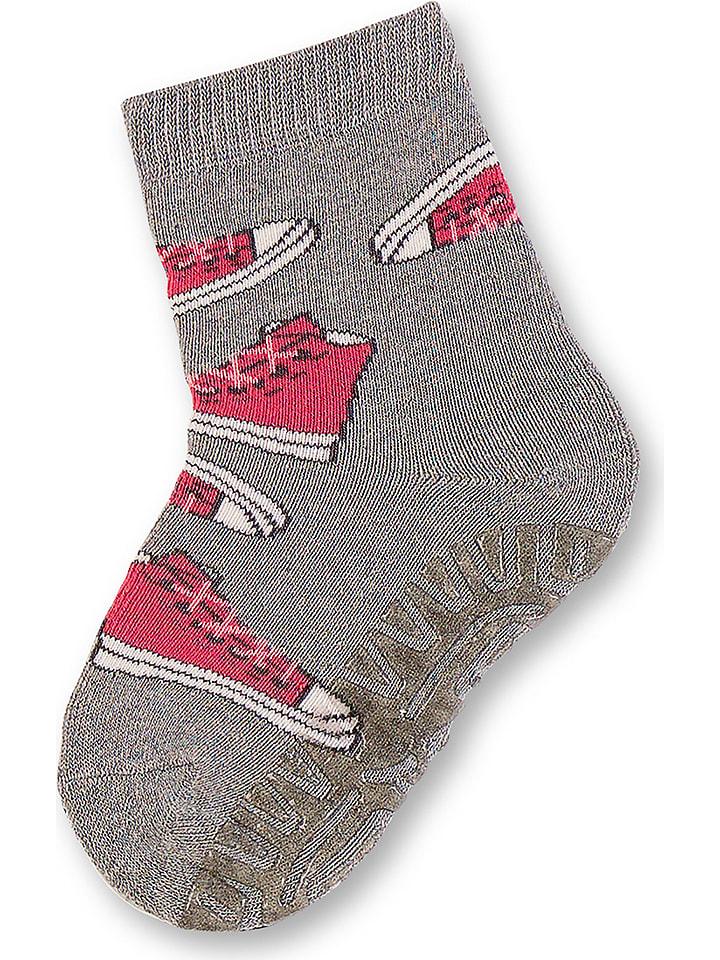 """Sterntaler ABS-Socken """"Fliesen Flitzer Soft"""" in Grau"""