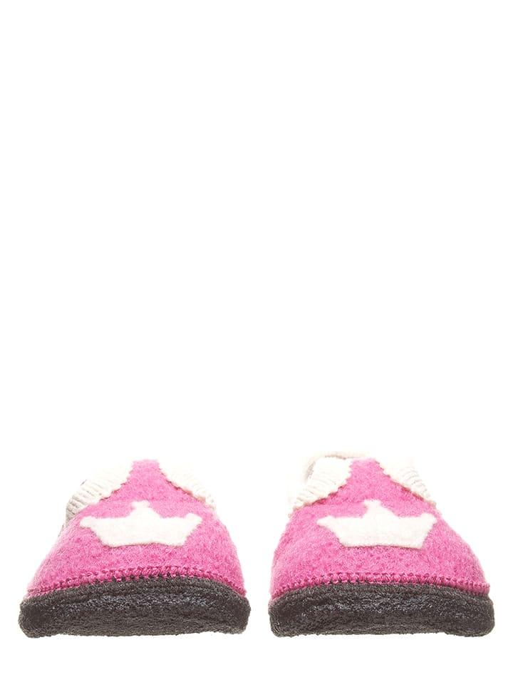 "Lamino Hausschuhe ""Krone"" in Pink"