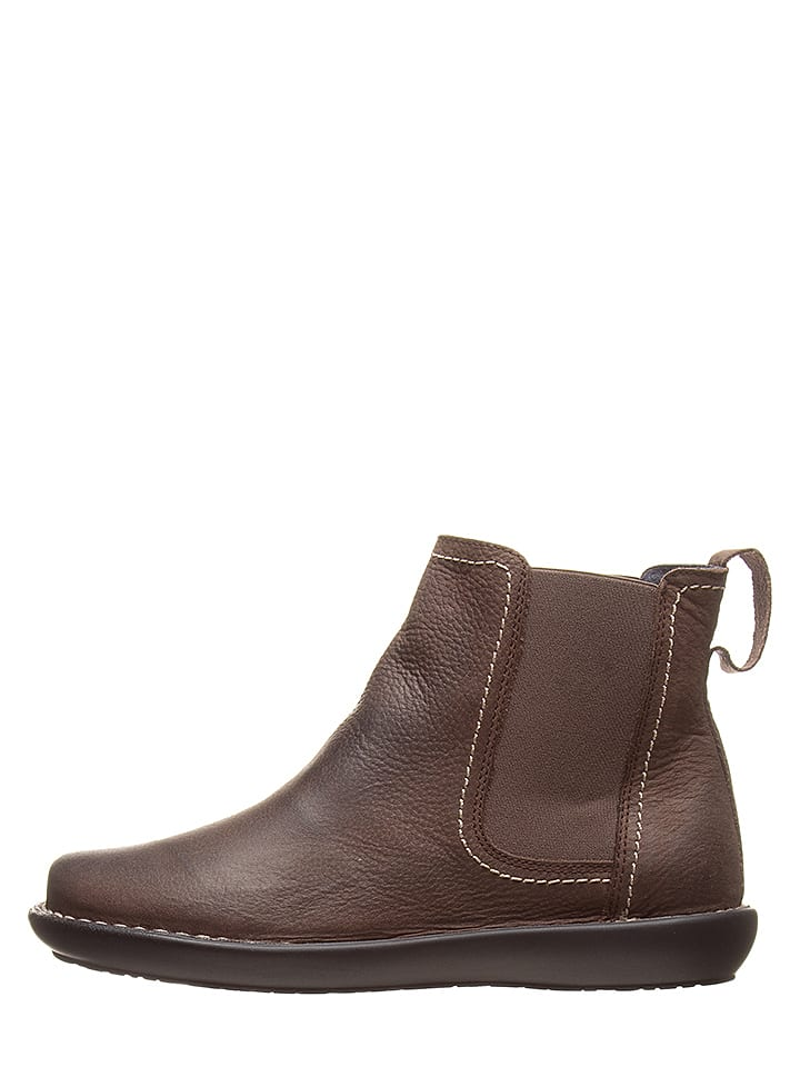CAMINA by Kmins Leder-Chelsea-Boots in Braun