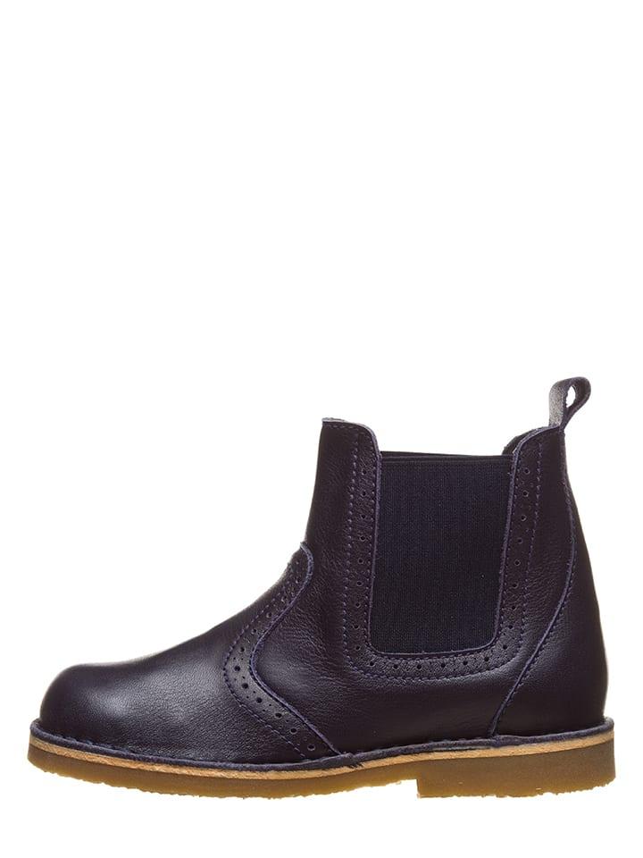 Kmins Leder-Chelsea-Boots in Dunkelblau