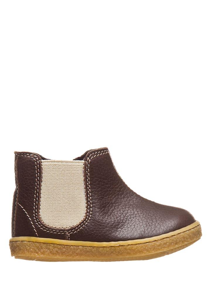 Kmins Leder-Chelsea-Boots in Dunkelbraun