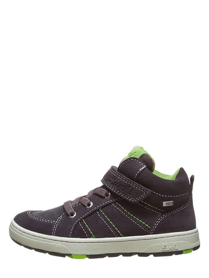 """Lurchi Leder-Sneakers """"Dusty-Tex"""" in Dunkelgrau"""