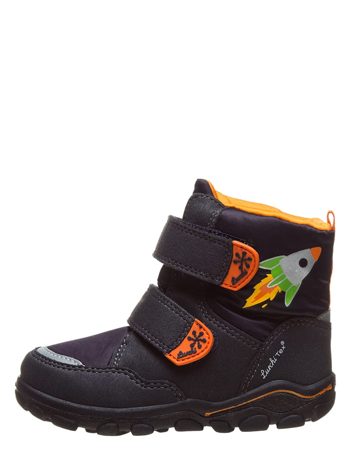 "Lurchi Winterboots ""Kon-Tex"" in Dunkelblau/ Orange"