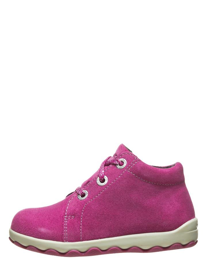 Lurchi Skórzane sneakersy w kolorze różowym
